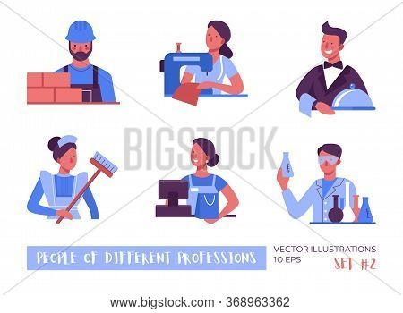 People Of Different Professions. A Set Of Vector Illustrations.