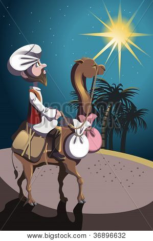 Riding Camel In Desert