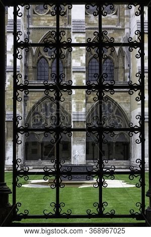 Interior Window In The Faculty Of Westminster Abbey In London