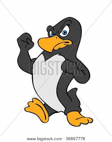 Angry Penguin Fighting