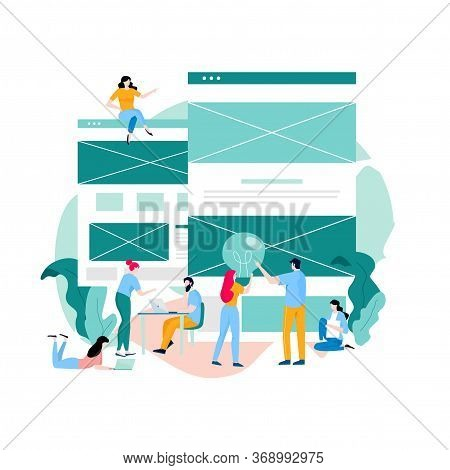 Landing Page Building Process, Web Page Construction, Website Development, Website Layout And Interf