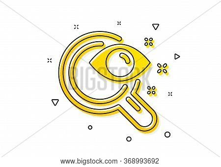 Eyesight Check Sign. Vision Test Icon. Oculist Clinic Symbol. Yellow Circles Pattern. Classic Vision