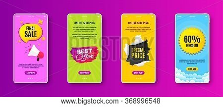 Best Offer Badge. Phone Screen Banner. Discount Banner Shape. Sale Coupon Bubble Icon. Sale Banner O