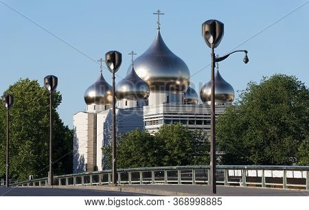 View Of The Russian Orthodox Church Cathedrale Of Saint Trinity Near The Eiffel Tower In Paris, Nick