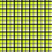 Checks pattern in black yellow and white colors poster