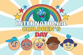International Children Day Happy Kids Event Banner