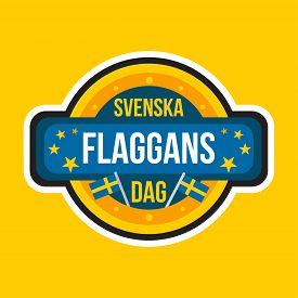 Sweden Independence National Day Sticker Or Label
