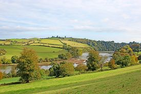 River Dart And Dart Valley In Autumn