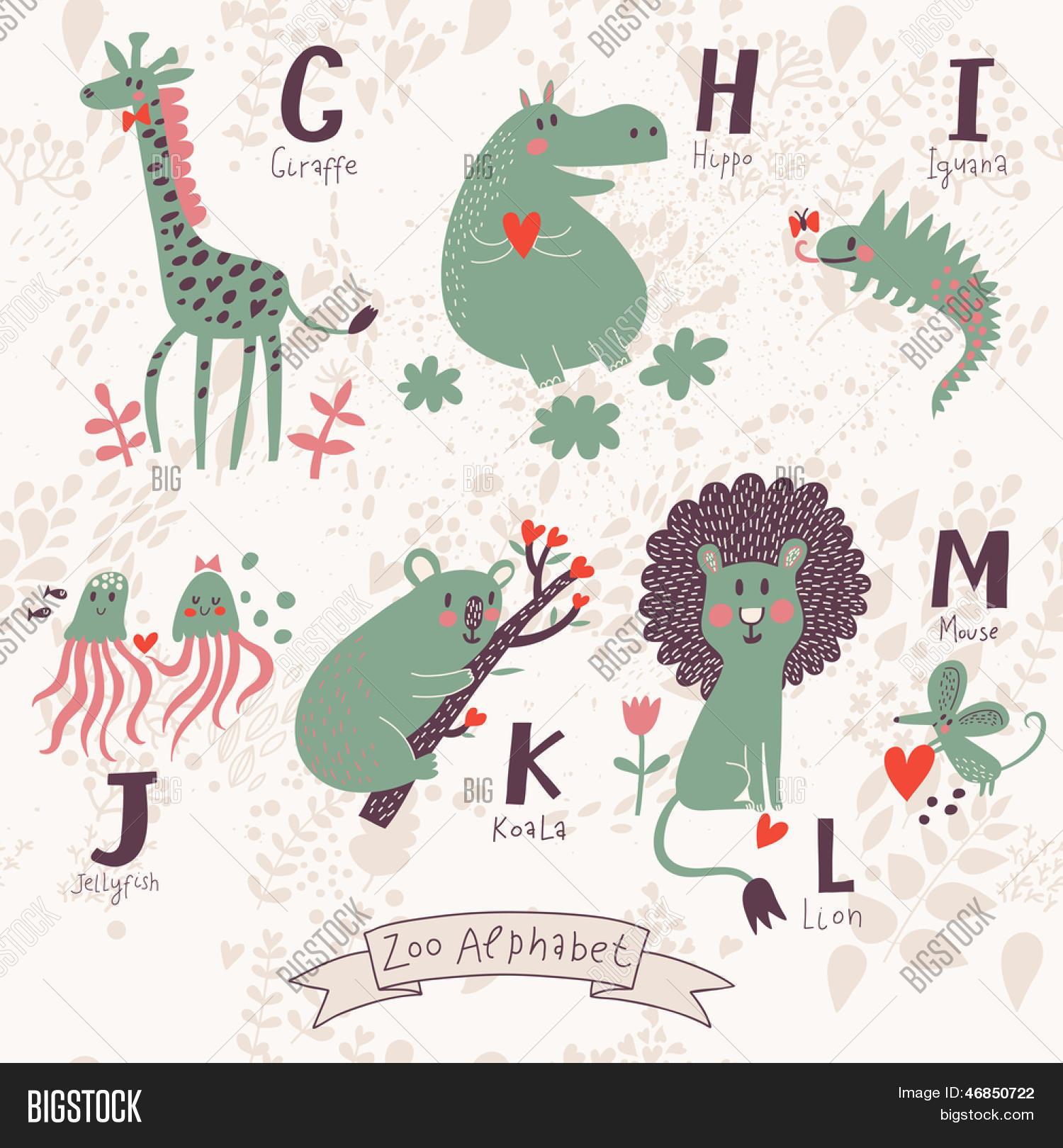 Cute Zoo Alphabet Vector  Photo Free Trial  Bigstock