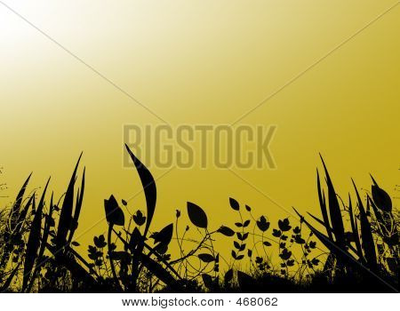 yellow background poster