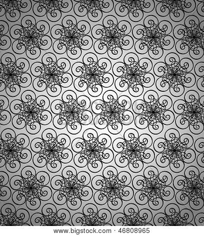 Seamless wallpaper pattern black.