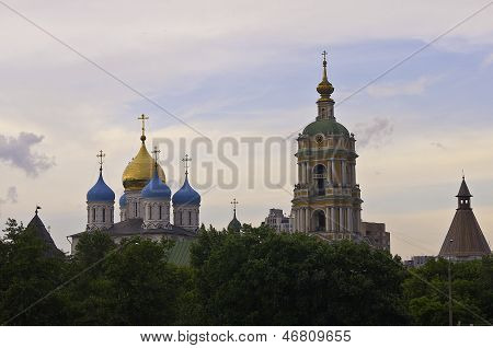 Novospassky Monastery At The Evening Twillight