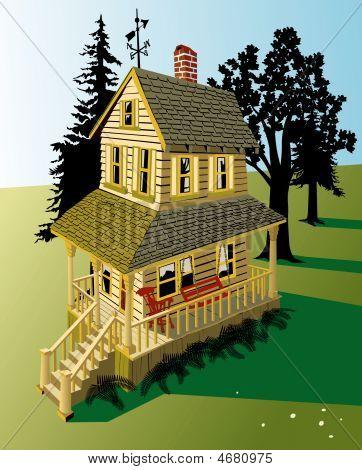 Farm House With Porch