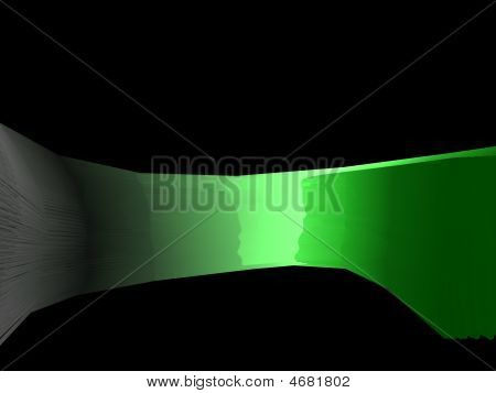 Glowing Green Material