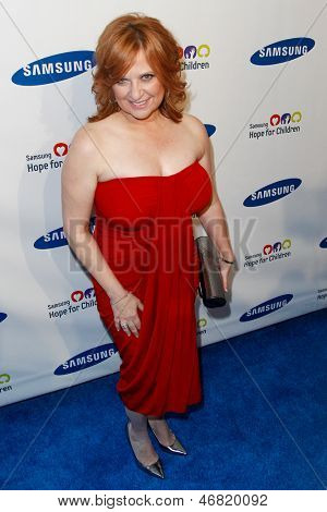 NEW YORK-MAY 29: TV personality Caroline Manzo attends the Samsung Hope for Children gala at Cipriani Wall Street on June 11, 2013 in New York City.