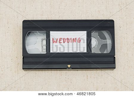labelled vhs tape