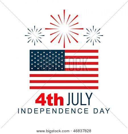 american 4th of july vector design poster