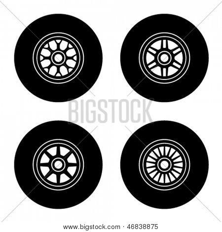 vector F1 wheel symbols