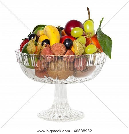 Glass Bowl With Fruits