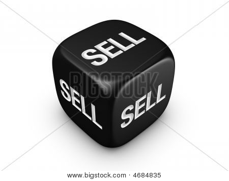 Black Dice With Sell Sign