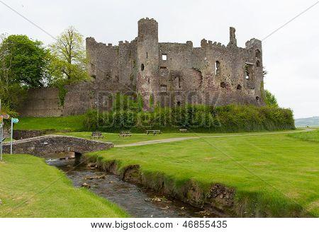 Laugharne Castle Carmarthenshire Wales Welsh