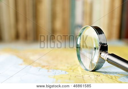 Magnifying Glass On The Map