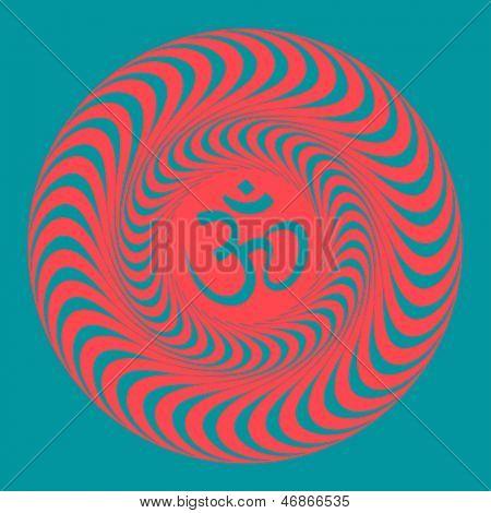 Om symbol illustration. Raster version, vector file available in portfolio.