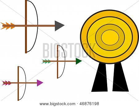 Bow and Arrow Target