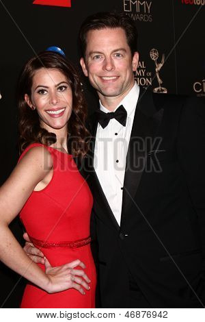 LOS ANGELES - JUN 16:  Michael Muhney arrives at the 40th Daytime Emmy Awards at the Skirball Cultural Center on June 16, 2013 in Los Angeles, CA