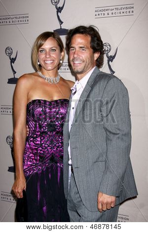 LOS ANGELES - JUN 13:  Arianne Zucker, Shawn Christian arrives at the Daytime Emmy Nominees Reception presented by ATAS at the Montage Beverly Hills on June 13, 2013 in Beverly Hills, CA
