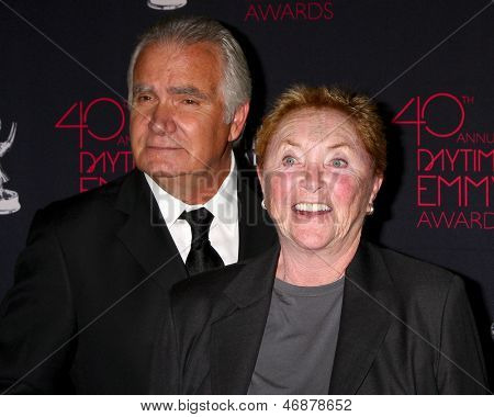 LOS ANGELES - JUN 14:  Susan Flannery, John McCook attends the 2013 Daytime Creative Emmys  at the Bonaventure Hotel on June 14, 2013 in Los Angeles, CA