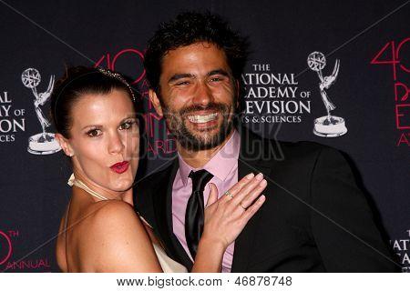LOS ANGELES - JUN 14:  Melissa Claire Egan, Ignacio Serricchio attends the 2013 Daytime Creative Emmys  at the Bonaventure Hotel on June 14, 2013 in Los Angeles, CA