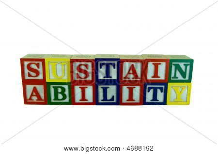 Sustainability In Alphabet Blocks