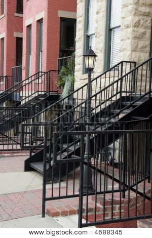 Black Metal Stairways To Rowhouses