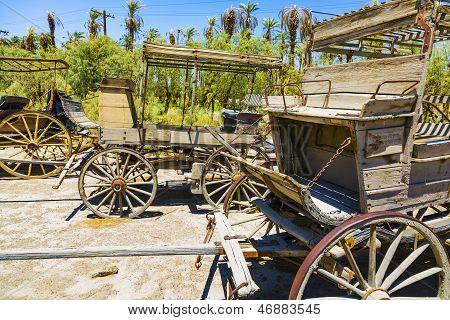 Edad histórica etapa vagones en el rancho
