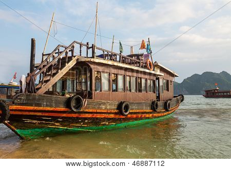 Touristic boat in Halong