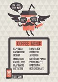 Cafe menu. Seamless background and design elements poster