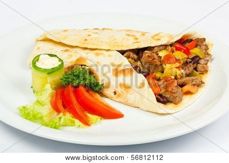 Burrito With Beans And Beef