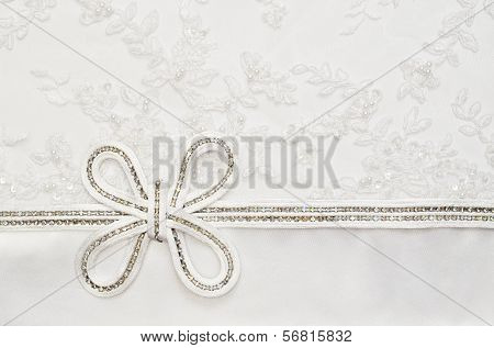 Wedding Bow On Lace