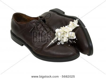 Formal Boutanniere And Shoes