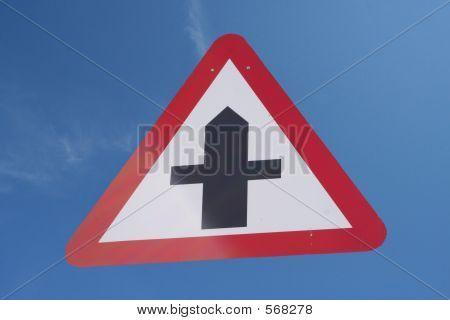 Überqueren Straßen Zeichen