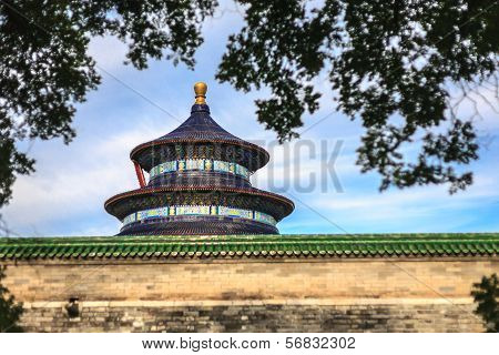 Temple Of Heaven View From Garden