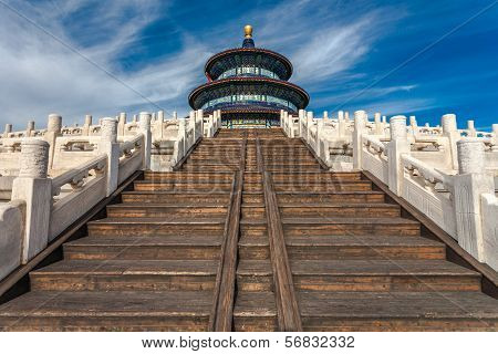 Temple Of Heaven Against Blue Sky