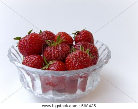 Strawberries In Crystal Dish 1