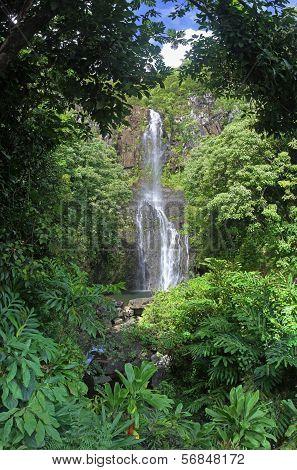 Wailua Falls at Maui, Hawaii
