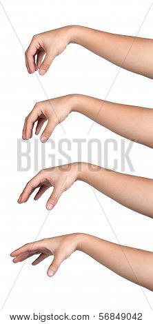 Hand Sign Posture Pick Hold