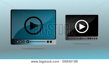 Media Player Interface Set With Play Button