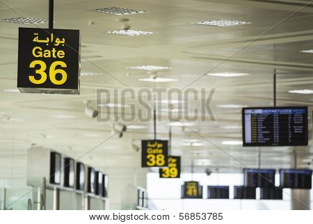 Gate 36 at the Airport
