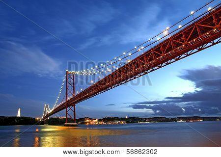 Lisbon Bridge - April 25Th, Old Salazar Bridge, Portugal