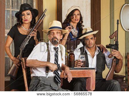 Armed Bootleggers With Guns